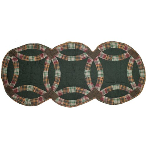 Patch Magic Green Double Wedding Ring Table Runner
