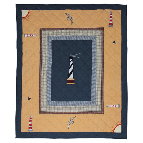 Lighthouse Trail Cotton Throw
