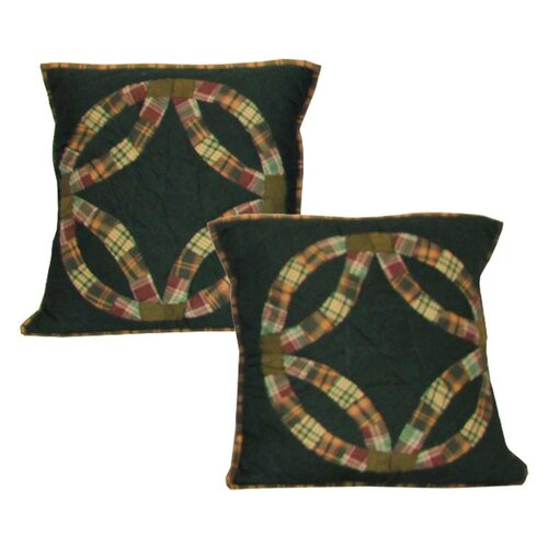 Double Wedding Ring Cotton Toss Pillow (Set of 2)