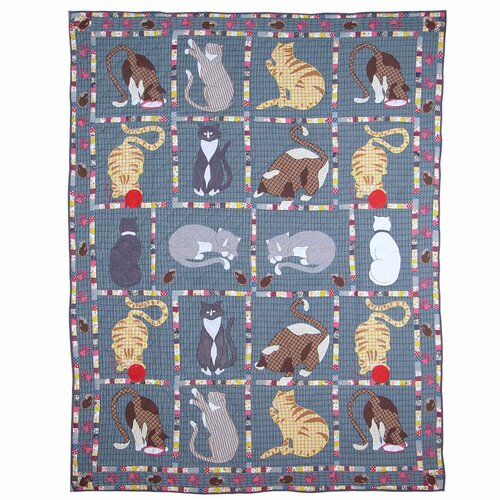 Kitty Cats Twin Cotton Quilt