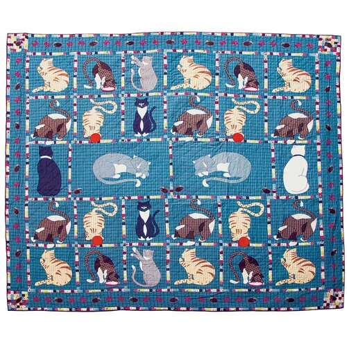 Kitty Cats King Cotton Quilt