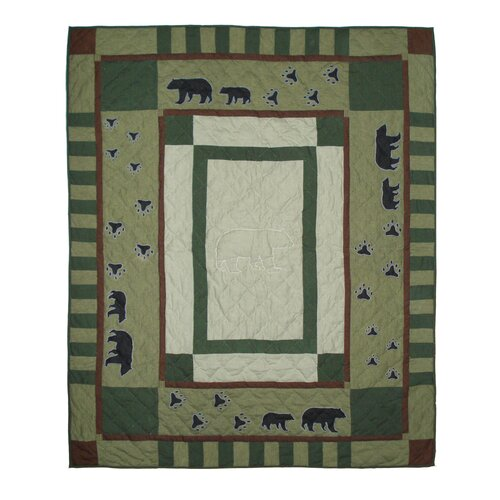 Bear Trail Cotton Throw