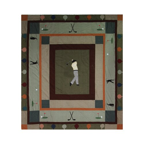 Golf Trail Cotton Queen Quilt