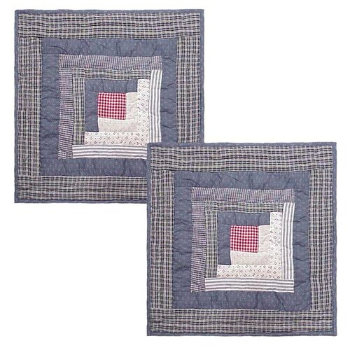 Sail Log Cabin Cotton Pillow (Set of 2)