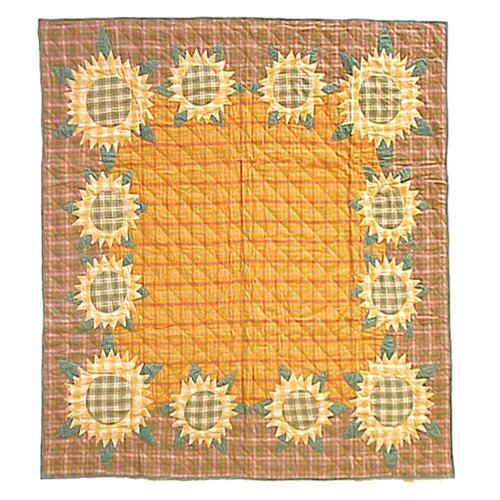 Sunflower Cotton Throw