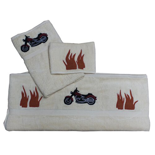 Motor Cycle Bath Towel (Set of 3)