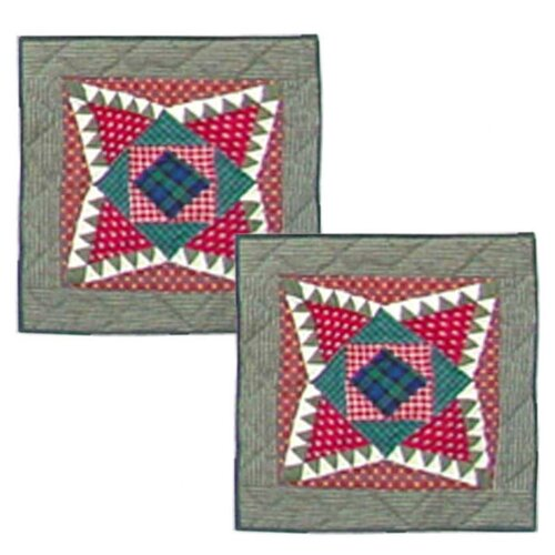 Yuletide Stars Cotton Pillow (Set of 2)