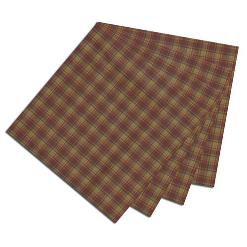 Rustic Check Fabric Napkin (Set of 4)