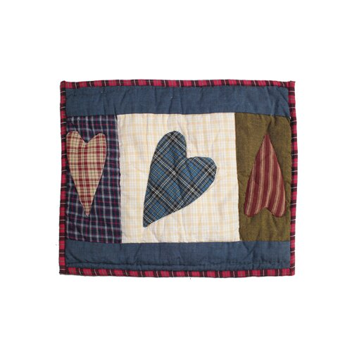 Primitive Hearts Cotton Crib Pillow