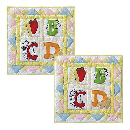 ABC Cotton Toss Pillow (Set of 2)