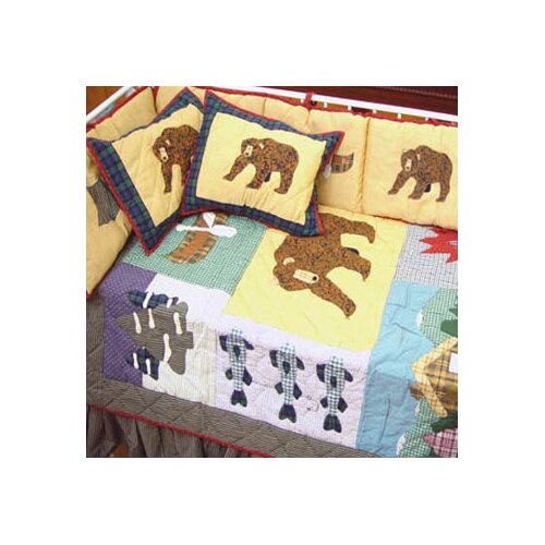 Patch Magic Cabin 6 Piece Crib Bedding Set