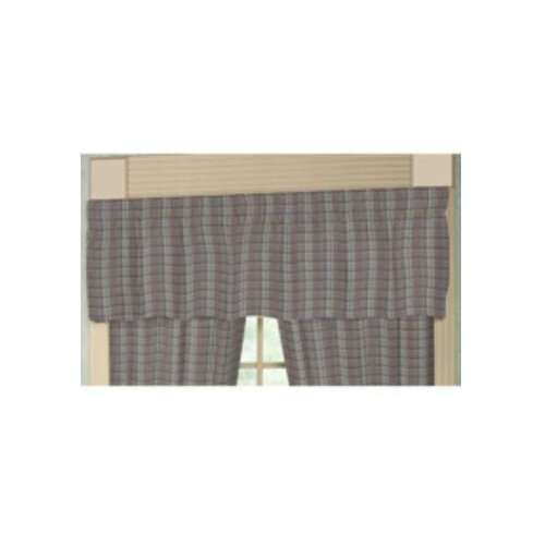 "Patch Magic Red Lines and Off White Plaid 54"" Curtain Valance"