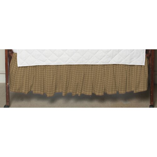 Patch Magic Brown Plaid Fabric Crib Dust Ruffle
