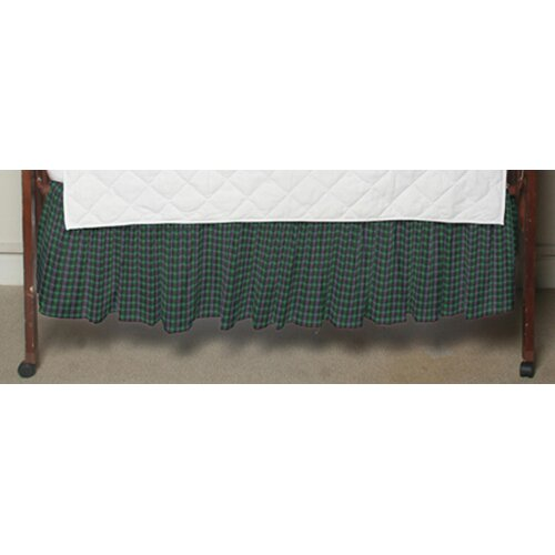 Patch Magic Green Tartan Plaid Fabric Crib Dust Ruffle