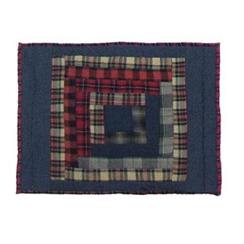 Red Log Cabin Cotton Crib Toss Pillow