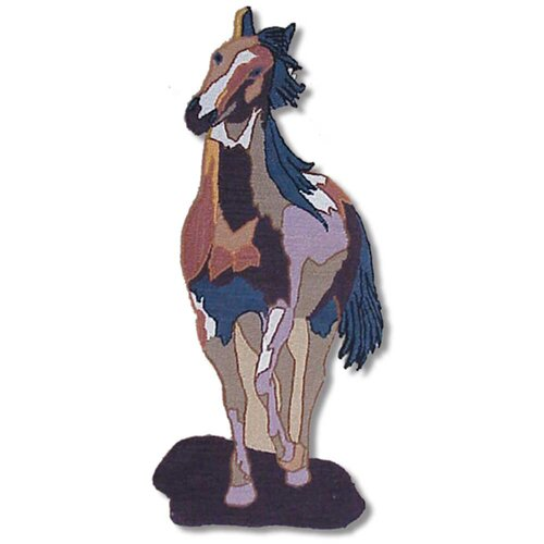 Patch Magic Wild Horses Single Horse Kids Rug