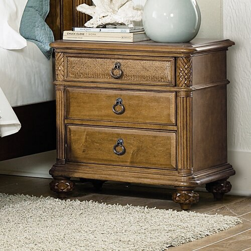 American Drew Grand Isle 3 Drawer Nightstand
