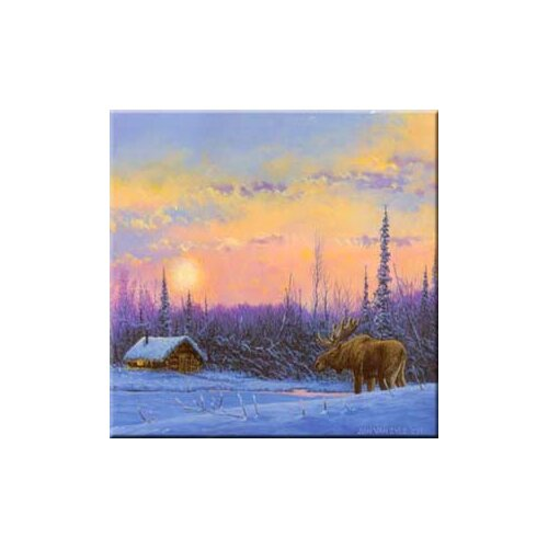 McGowan Tuftop Van Zyle Moose and Cabin Trivet