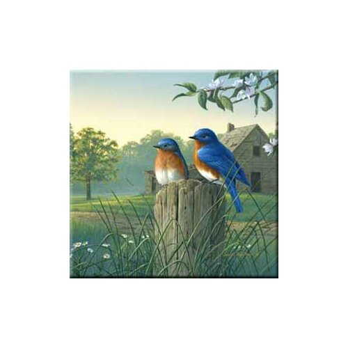 McGowan Tuftop Country Morning Bluebirds Trivet