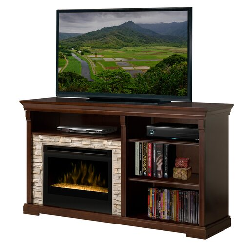 "Dimplex Edgewood 65"" TV Stand with Electric Ember Bed Fireplace"