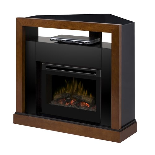 Tanner Media Console Electric Log Fireplace