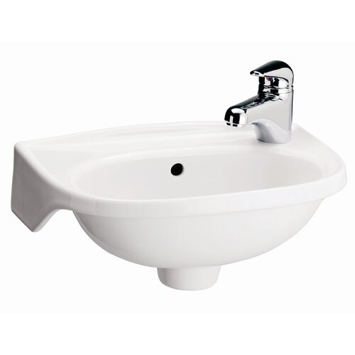 Barclay Tina Single Hole Wall Mount Bathroom Sink