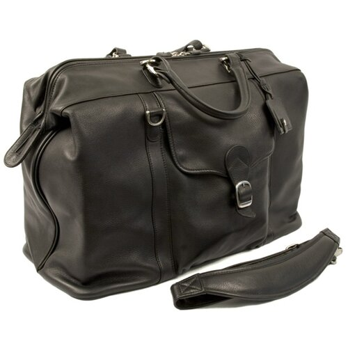 """Dr. Koffer Fine Leather Accessories Bacchus 20"""" Leather Carry-On Duffel"""