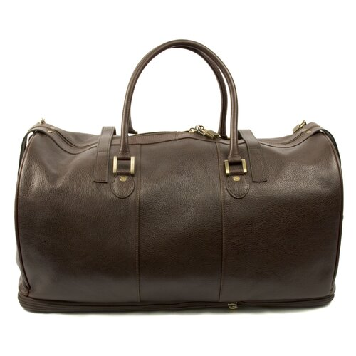 """Dr. Koffer Fine Leather Accessories Blake 22"""" Leather Carry-On Duffel"""