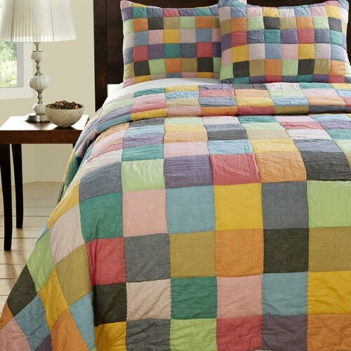 Landon 3 Piece Patchwork Quilt Set