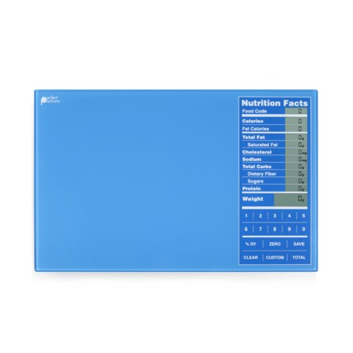 Kitrics Perfect Portions Digital Scale with Nutrition Facts Display in Blue