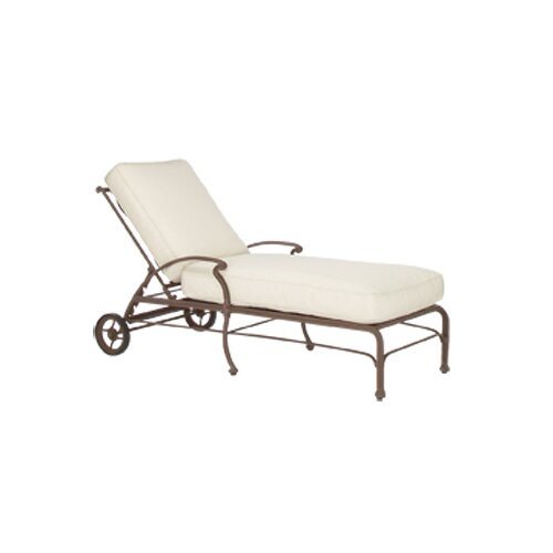 Woodard Landgrave Chateau Chaise Lounge with Cushion
