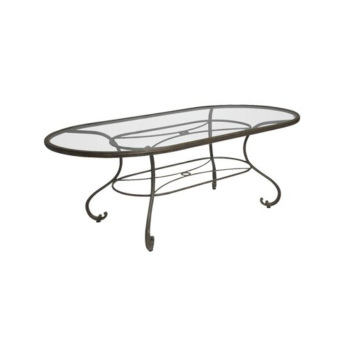 Woodard Landgrave Old Gate Oval Umbrella Dining Table