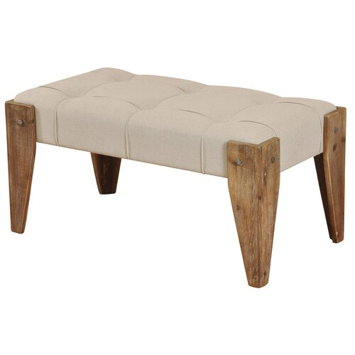 Style Craft Driftwood Upholstered Bedroom Bench & Reviews