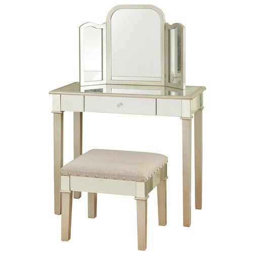 Style Craft Hollywood Glamour Bedroom Vanity with Mirror