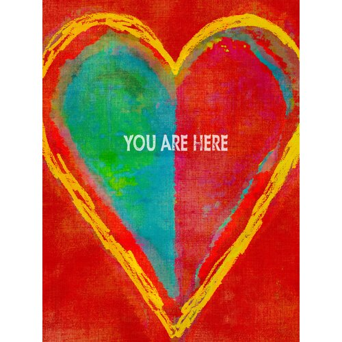 """StyleCraft """"You Are Here"""" Graphic Art on Canvas"""