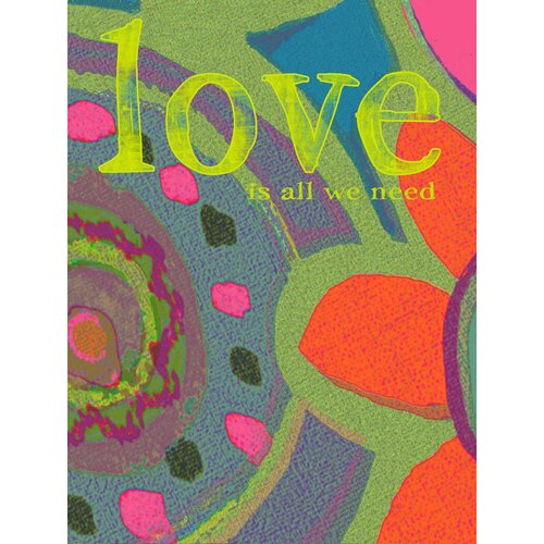 """StyleCraft """"Love is All We Need"""" Graphic Art on Canvas"""