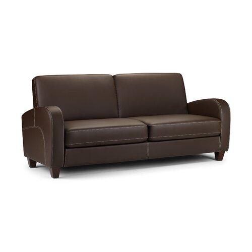 Home Zone Rossini Faux Leather 3 Seater Sofa