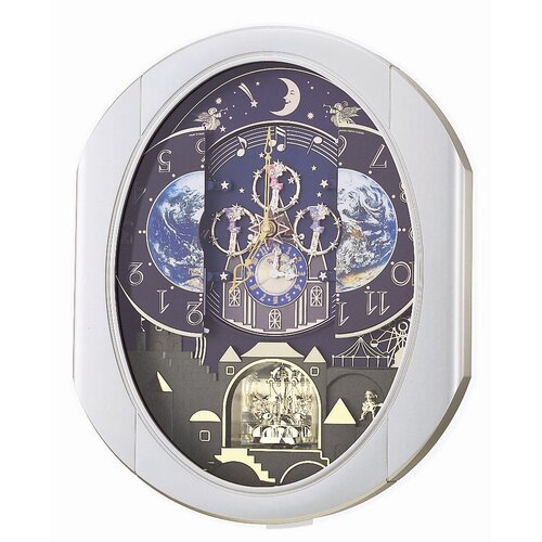Rhythm U.S.A Inc Peaceful Cosmos Entertainer Melody Wall Clock