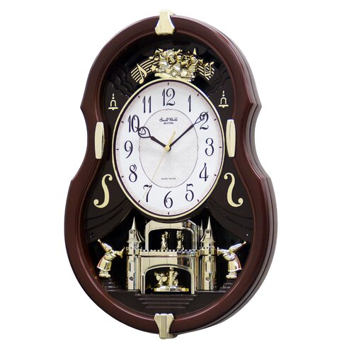 Rhythm U.S.A Inc Viola Entertainer Melody Wall Clock