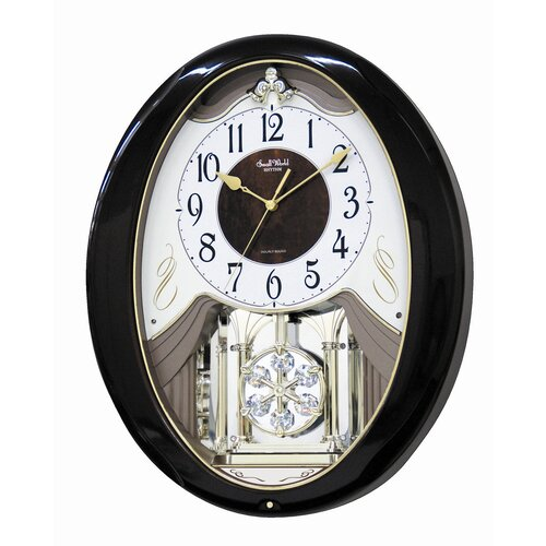 Sable Snowflake Melody Wall Clock
