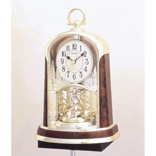 Rhythm U.S.A Inc Woodgrain Spiral Clock