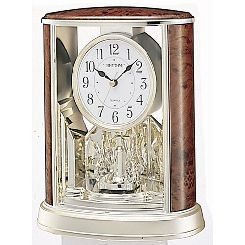 Rhythm U.S.A Inc Woodgrain Teardrop Clock