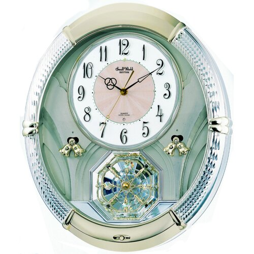 Rhythm U.S.A Inc Amazing Carina Melody Wall Clock