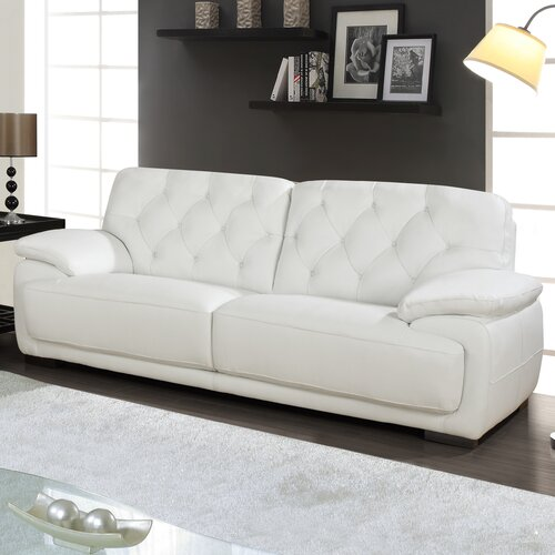 89'' Leather Sofa