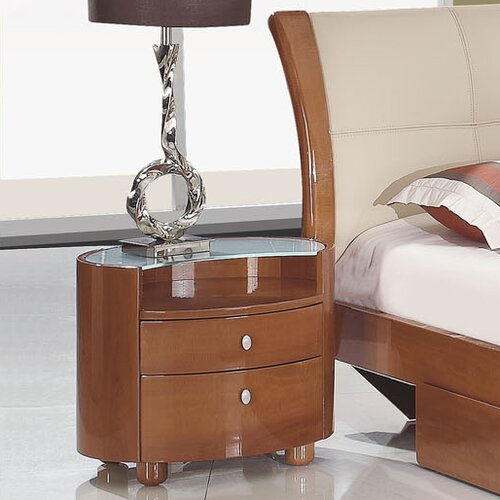 Global Furniture USA Evelyn 2 Drawer Nightstand