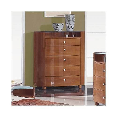 Global Furniture USA Evelyn 5 Drawer Chest