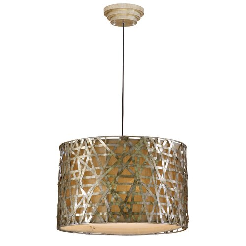 Large Foyer Drum Pendant : Uttermost alita light drum foyer pendant reviews wayfair