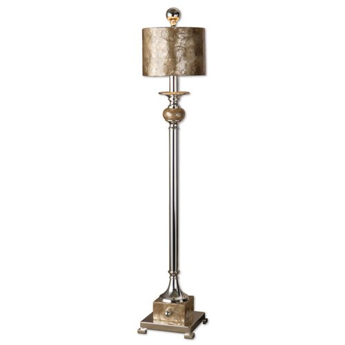 """Metal Shade Buffet Lamp: Uttermost Pearl 35"""" H Table Lamp With Drum Shade & Reviews"""