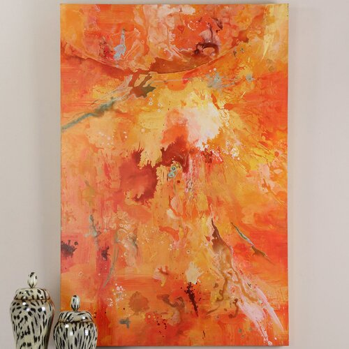 Radiant Sun Original Painting on Canvas