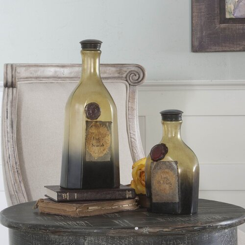 Uttermost 2 Piece Matlal Decorative Bottle Set